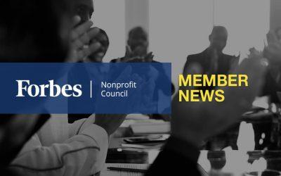 Forbes Nonprofit Council Member News – September 2019