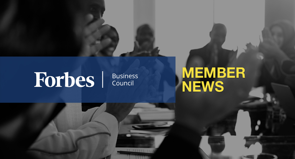 Forbes Business Council Member News – May 2020